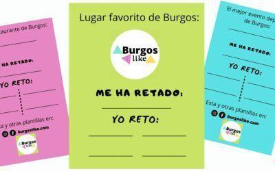 Descarga aquí las plantillas – retos de Burgos Like para usar en tus redes sociales